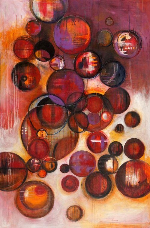 369 Best Abstract – Circles Images On Pinterest | Abstract Art With Regard To Abstract Circles Wall Art (Image 2 of 20)