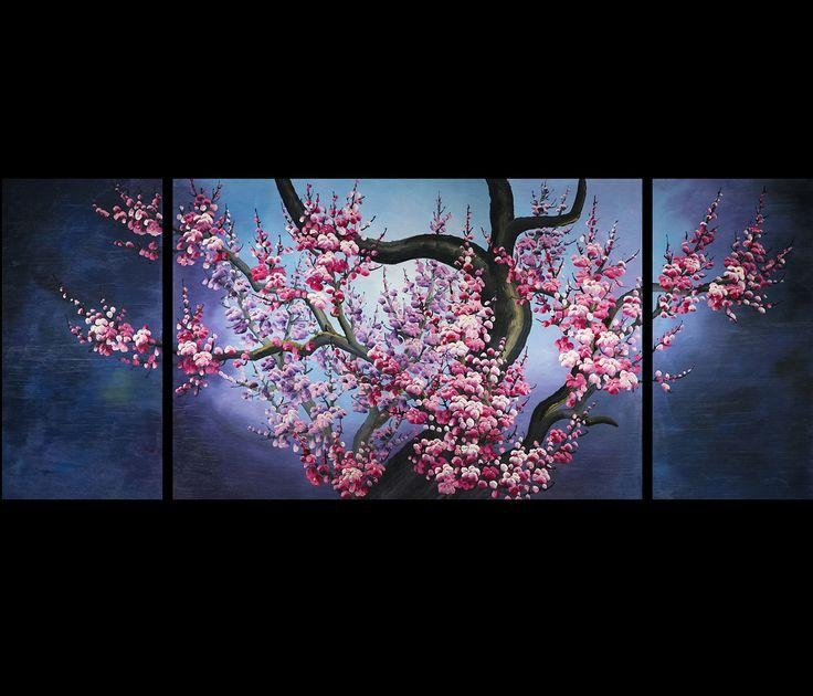 38 Best Cherry Blossom Paintings Images On Pinterest | Japanese Within Abstract Cherry Blossom Wall Art (Image 3 of 20)
