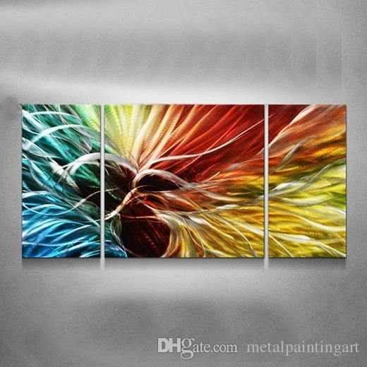 3D Rainbow Aluminum Polished Modern High Quality Metal Abstract Throughout Aluminum Abstract Wall Art (Image 6 of 20)