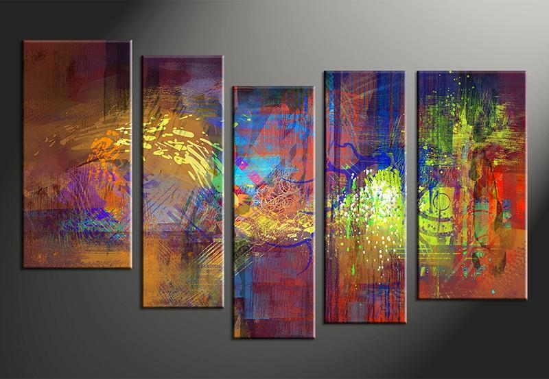 40 Nice Ideas 5 Piece Wall Art Canvas | Panfan Site In Abstract Wall Art Canvas (View 13 of 20)
