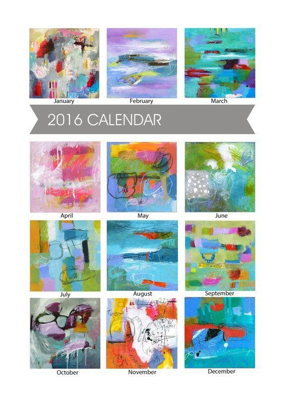 41 Best 이 Images On Pinterest | London, Paint And Flower Paintings Intended For Abstract Calendar Art Wall (View 20 of 20)