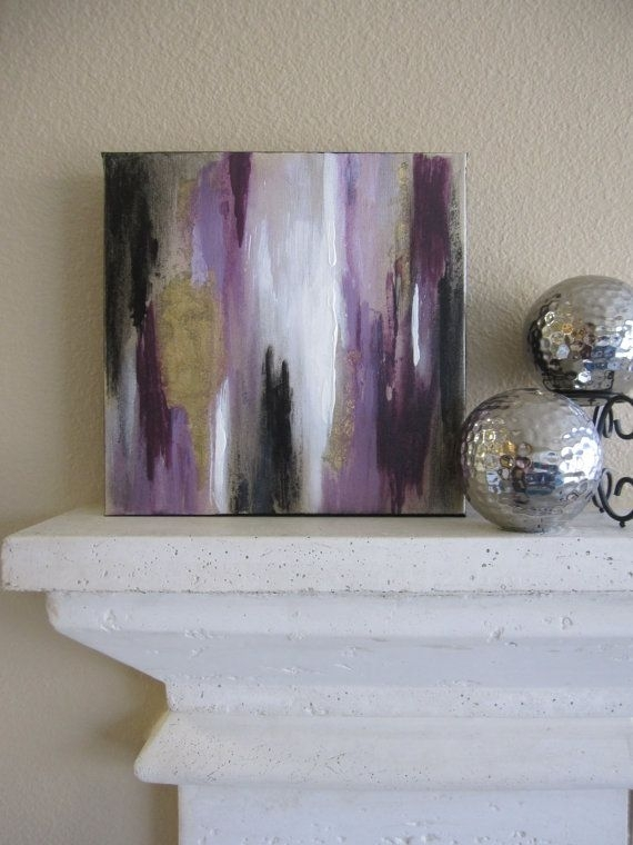 44 Best Abstract Paintings Images On Pinterest | Abstract With Dark Purple Abstract Wall Art (Photo 8 of 15)