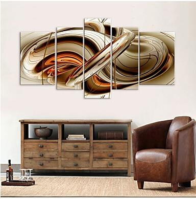 5 Pcs Large Hd Canvas Art Print Abstract Syrup Modern Canvas Wall Throughout Abstract Wall Art Prints (Image 3 of 20)