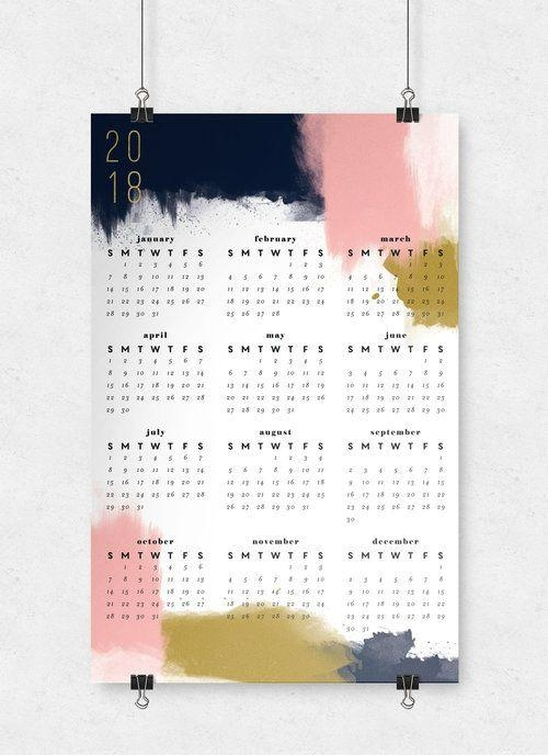 65 Best Wall Calendars 2018 Images On Pinterest | Calendar 2018 With Abstract Calendar Art Wall (Image 9 of 20)