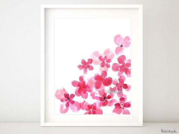 69 Best Wall Art Images On Pinterest | Art Prints, Printable Art Intended For Abstract Flower Wall Art (Photo 8 of 15)