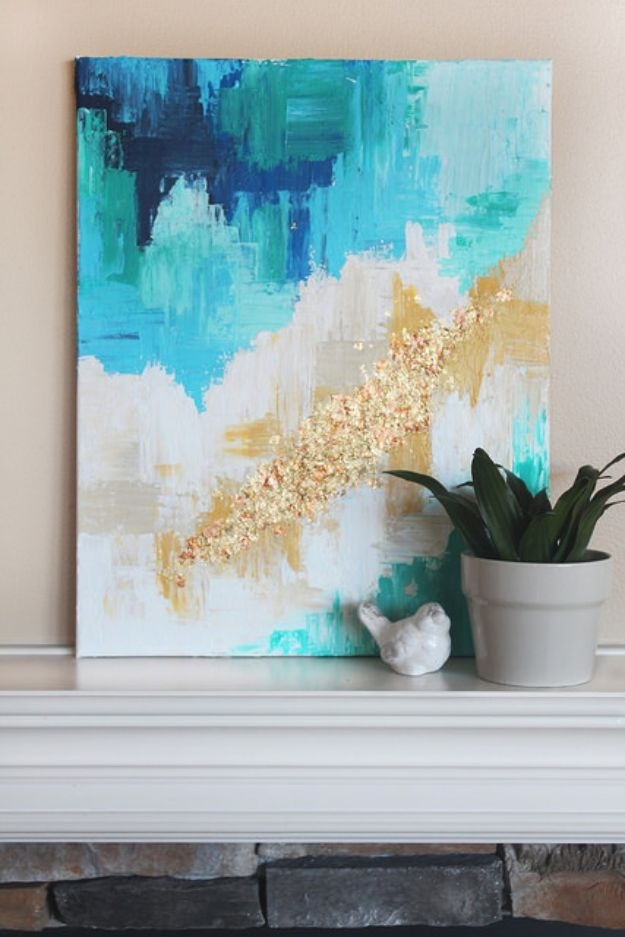 76 Brilliant Diy Wall Art Ideas For Your Blank Walls – Diy Joy Inside Abstract Fabric Wall Art (View 4 of 15)