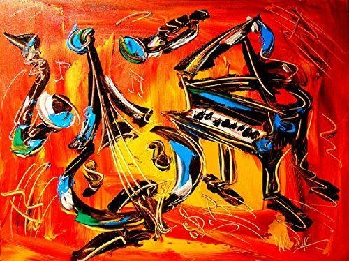 8 Best Jazz Images On Pinterest | Jazz Art, Paintings And Art Intended For Abstract Musical Notes Piano Jazz Wall Artwork (Image 2 of 20)