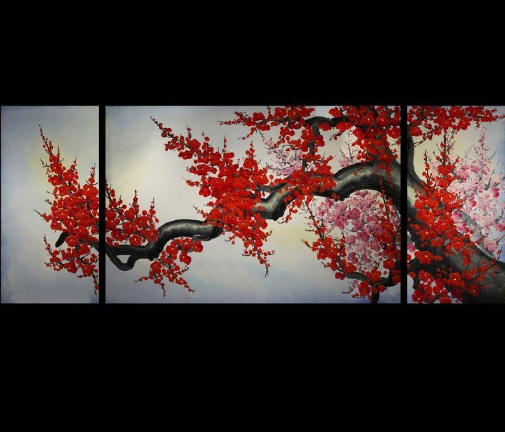 9 Best Chinese Paintings Images On Pinterest | Chinese Painting Pertaining To Cherry Blossom Oil Painting Modern Abstract Wall Art (Image 3 of 20)