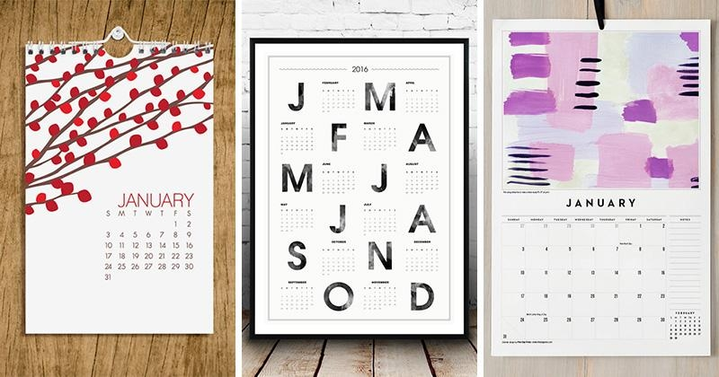 9 Wall Calendars To Keep You Organized In 2016 (Plus They Can regarding Abstract Calendar Art Wall