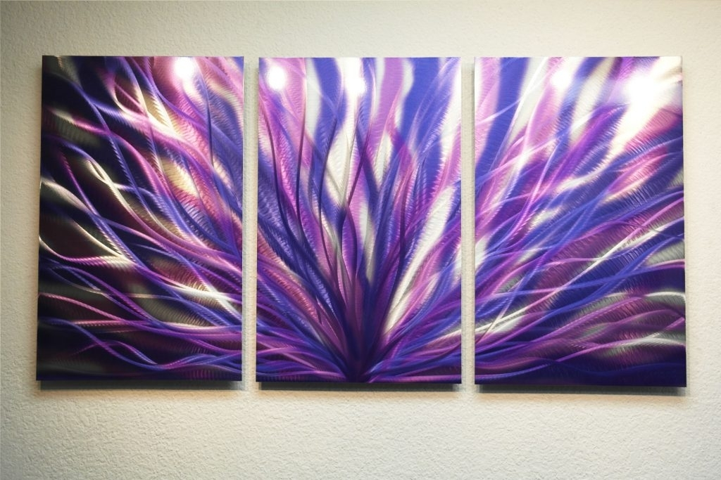 Absolutely Design Purple Metal Wall Art With Radiance 47 Abstract Within Dark Purple Abstract Wall Art (View 3 of 15)
