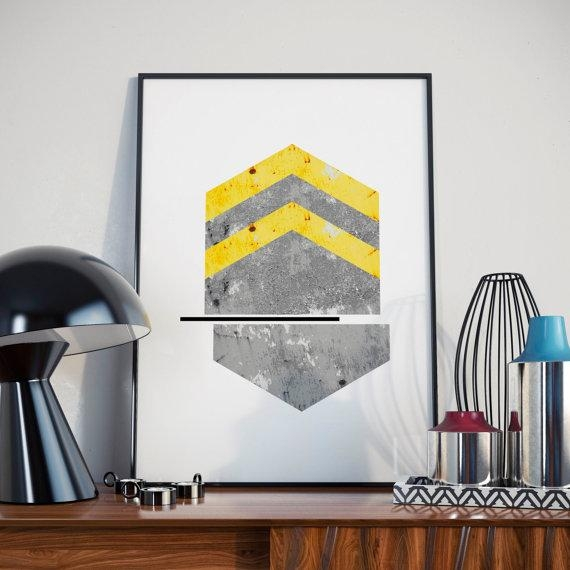 Abstract Arrows Geometric Wall Art Minimalist Art Modernwoolc throughout Limited Edition Wall Art
