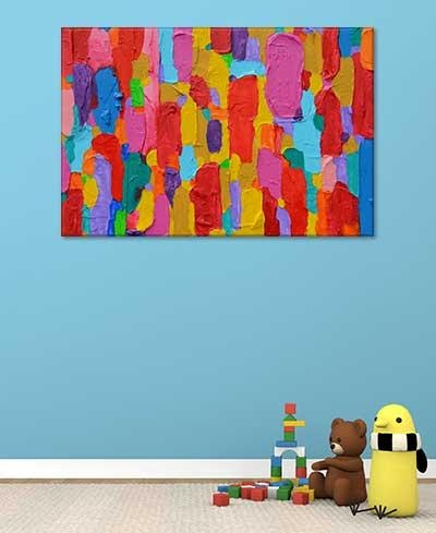 Abstract Art For Kids – Colourful Bold Wall Art Print | Art Regarding Bold Abstract Wall Art (Image 3 of 20)