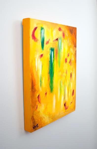 Abstract Canvas Wall Art Australia Original Yellow Galvanic Oil On Throughout Australian Abstract Wall Art (Image 4 of 20)