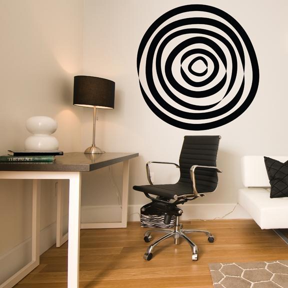 Abstract Circle Vinyl Wall Decal Within Abstract Circles Wall Art (Image 4 of 20)