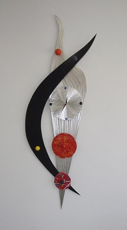 Abstract Contemporary Clock Designtony Viscardi, Abstract With Regard To Abstract Clock Wall Art (View 9 of 20)