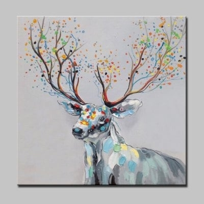 Featured Image of Abstract Deer Wall Art