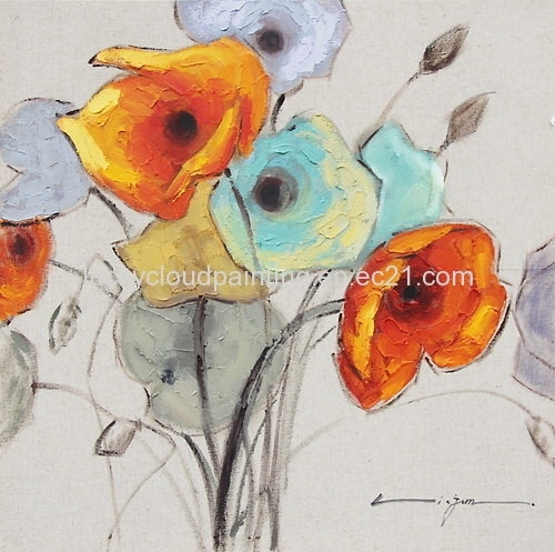 Abstract Floral Oil Painting Wall Art For Home Decoration(Id With Abstract Floral Wall Art (Image 4 of 15)