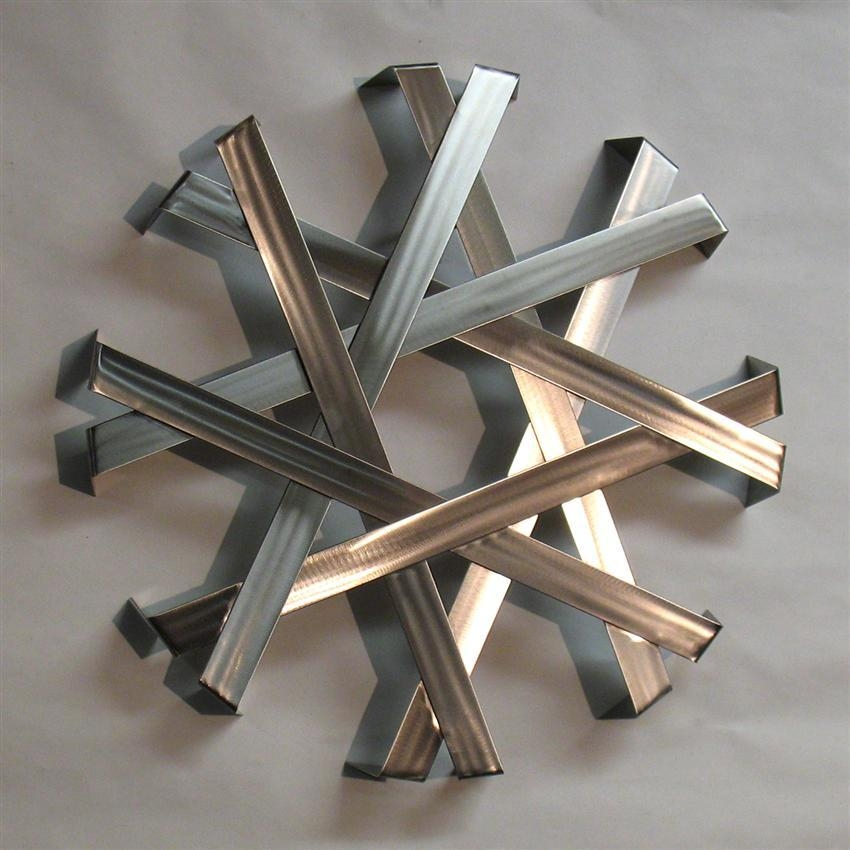 Abstract Metal Wall Art Sculpture – Stainless Steel | Modern Metal In Abstract Metal Wall Art (Image 4 of 20)
