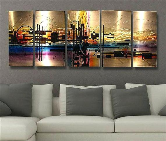 Abstract Metal Wall Decor Abstract Metal Wall Art Painting Techno With Regard To Abstract Metal Wall Art (Image 7 of 20)