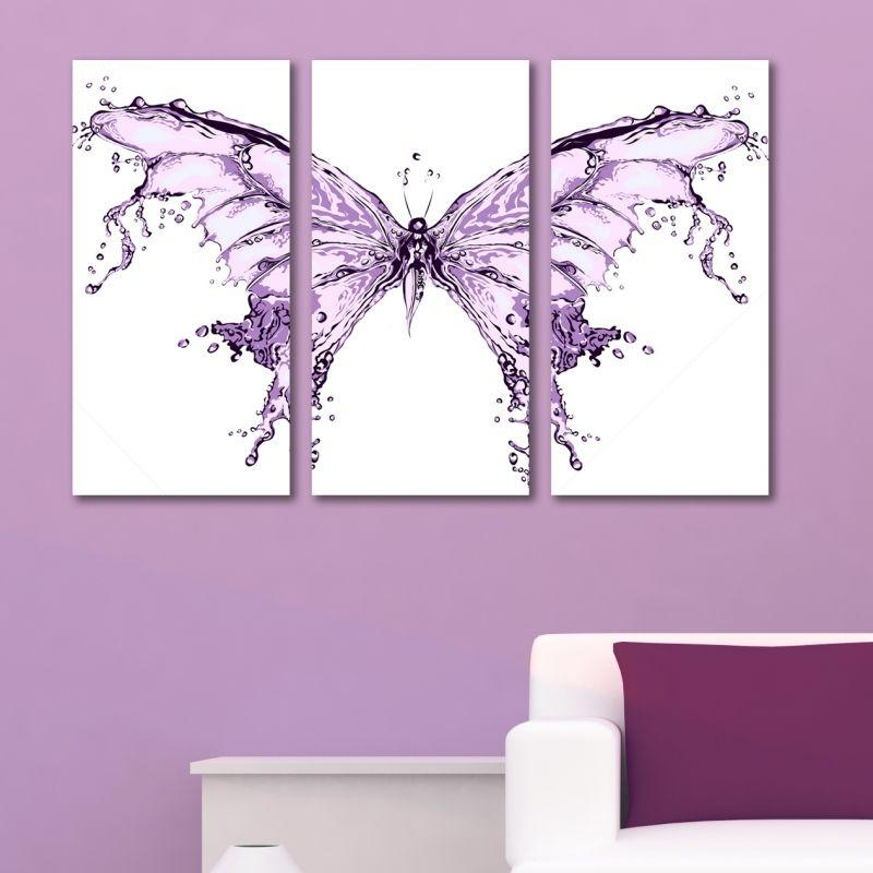 Abstract Modern Decoration With Butterfly For Teen Room Of A Girl With Abstract Butterfly Wall Art (Image 6 of 20)