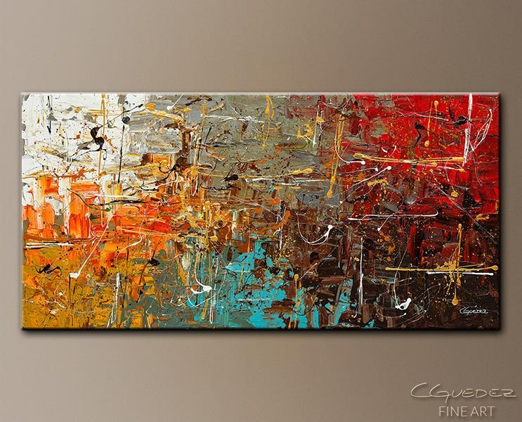 Abstract Modern Design Orange Canvas Artbuy Abstract Modern For Intended For Contemporary Abstract Wall Art (Image 5 of 20)