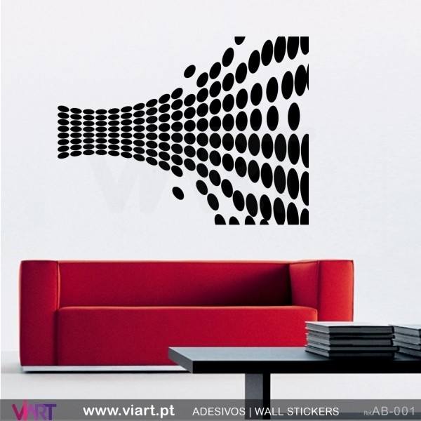 Abstract Optical Illusion! Wall Stickers – Wall Art – Viart For Abstract Art Wall Decal (Image 2 of 15)