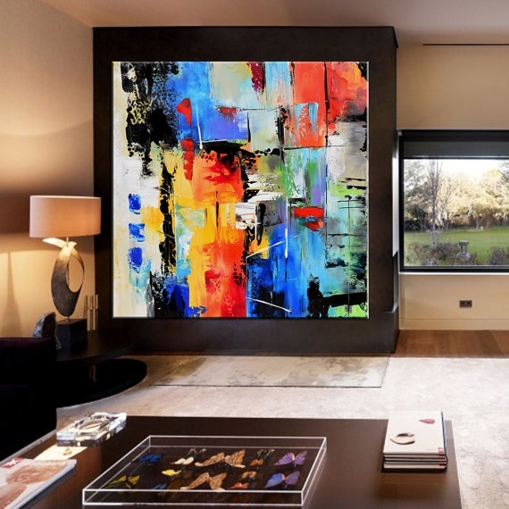 Abstract Painting, Contemporary Wall Art, Extra Large Abstract Intended For Extra Large Abstract Wall Art (View 10 of 15)