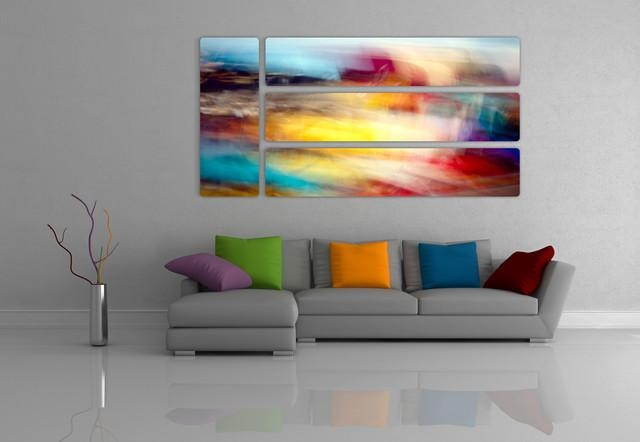 Abstract Prints On Aluminum – Contemporary – Living Room – Toronto Within Aluminum Abstract Wall Art (Image 9 of 20)