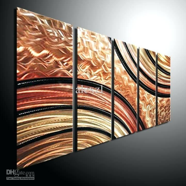 Abstract Wall Art Metal Big Abstract Metal Wall Art Sculpture Intended For Circle Bubble Wave Shaped Metal Abstract Wall Art (Image 4 of 20)