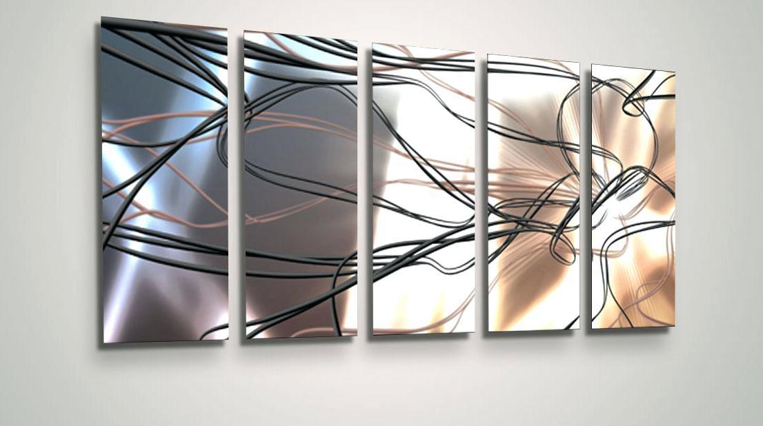 Abstract Wall Art Metal Metal Abstract Wall Art Circle Bubble Wave With Circle Bubble Wave Shaped Metal Abstract Wall Art (Image 8 of 20)