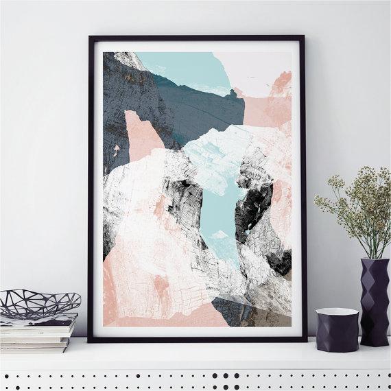 Abstract Wall Art, Minimalist Prints, Scandi Prints, Fine Art Throughout Abstract Wall Art Prints (Image 8 of 20)