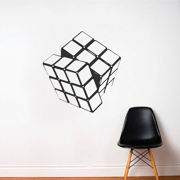 Abstract Wall Decals, Wall Art Decor Stickers – Trendy Wall Designs With Regard To Abstract Art Wall Decal (Image 3 of 15)