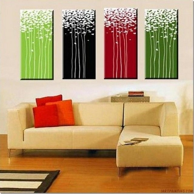 Acrylic Canvas Painting Ideas Abstract Pieces On Silk Flower Diy In Diy Modern Abstract Wall Art (View 3 of 15)