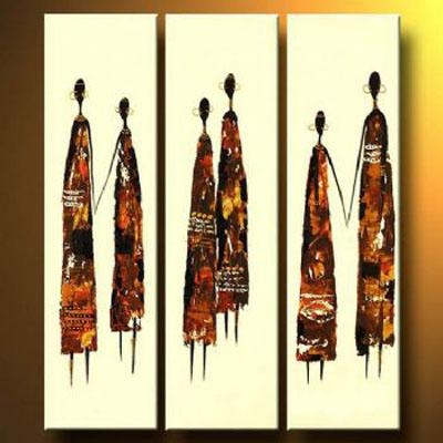 African Couples Modern Canvas Art Wall Decor Abstract Oil Painting With Regard To Abstract African Wall Art (View 18 of 20)