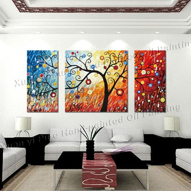 Aliexpress Buy 3 Piece Canvas Wall Art Large Modern Abstract With Intended For Large Abstract Wall Art Australia (Image 2 of 20)