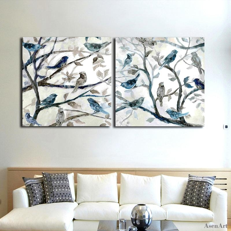 Aliexpress : Buy Hand Painted Abstract Oil Painting On Canvas Within Abstract Bird Wall Art (View 10 of 20)