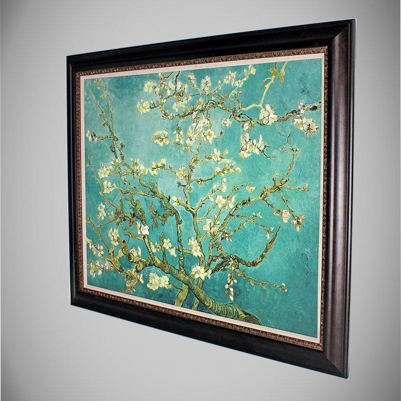 Almond Blossom'vincent Van Gogh Framed Painting Print With Regard To Almond Blossoms Vincent Van Gogh Wall Art (View 6 of 20)
