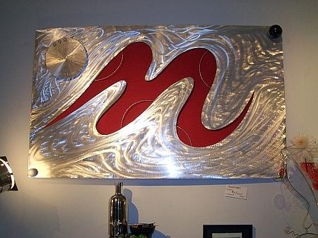 Aluminum Metal Art Sculptures, Contemporary Aluminum Metal Art With Regard To Aluminum Abstract Wall Art (Image 10 of 20)