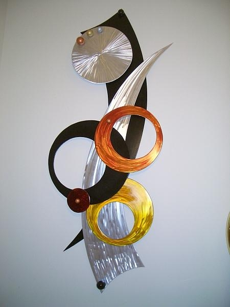 Aluminum Wall Art, Wall Sculptures In Brushed Aluminum And Throughout Aluminum Abstract Wall Art (View 12 of 20)
