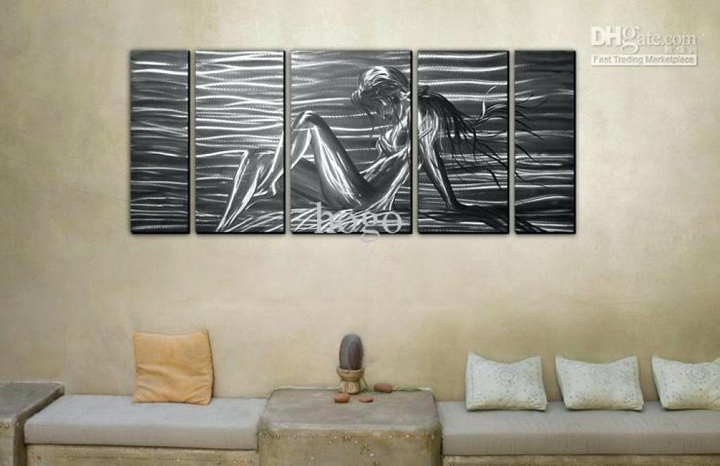 Aluminum Wall Decor Large Metal Wall Art Decor Abstract Regarding Abstract Aluminium Wall Art (View 8 of 20)