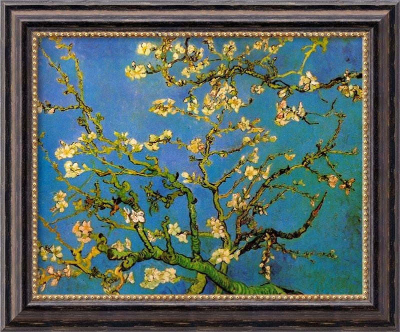 Amanti Art 'almond Blossom'vincent Van Gogh Framed Painting With Almond Blossoms Vincent Van Gogh Wall Art (Image 5 of 20)