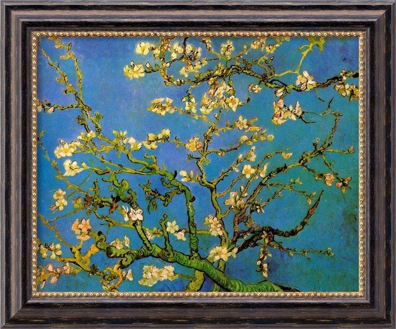 Amanti Art 'almond Blossom'vincent Van Gogh Framed Painting With Almond Blossoms Vincent Van Gogh Wall Art (View 15 of 20)
