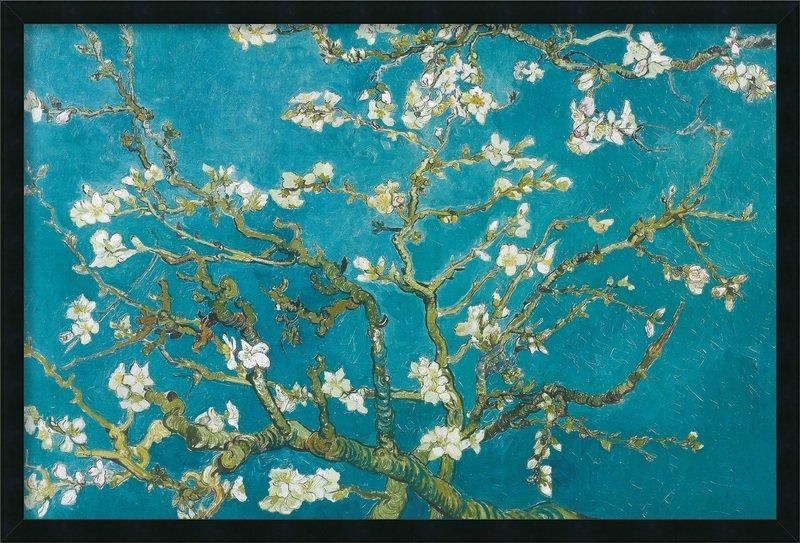 Amanti Art Almond Branches In Bloom, San Remy 1890Vincent Van Inside Almond Blossoms Vincent Van Gogh Wall Art (Image 6 of 20)