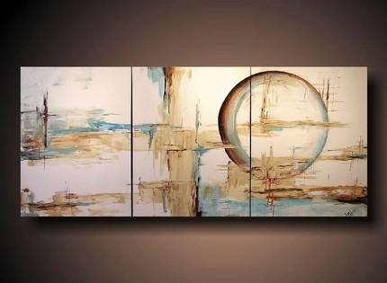 And Brown Abstract Painting Throughout Blue And Brown Abstract Wall Art (Image 2 of 20)