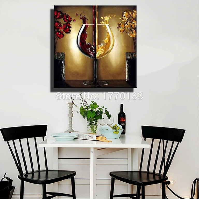 Appealing Dining Room Canvas Art With Red Dining Room Wall Art Regarding Abstract Wall Art For Dining Room (View 3 of 15)