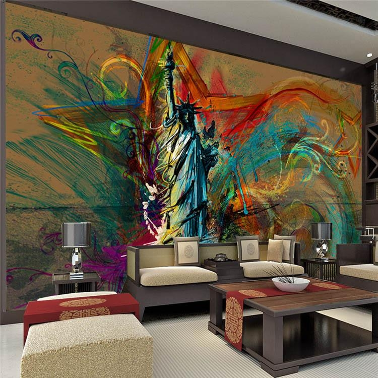 Art Murals For Walls – [Peenmedia] Inside Abstract Wall Art For Bedroom (Image 5 of 20)