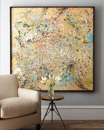 Art/wall Decor – 'cosmos' Abstract Art – Neiman Marcus – Gold And Intended For Framed Abstract Wall Art (Image 7 of 20)