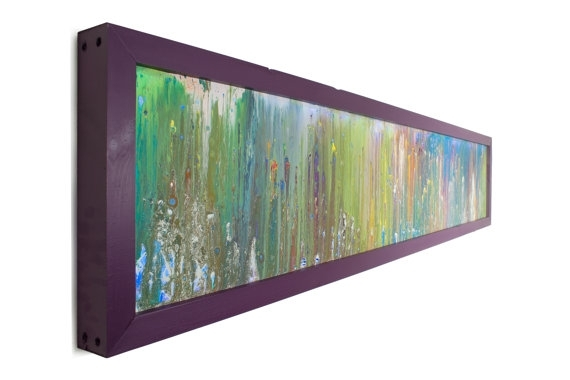 Art With Lights Horizontal Art Modern Lighting Abstract Art Throughout Glass Abstract Wall Art (View 13 of 15)