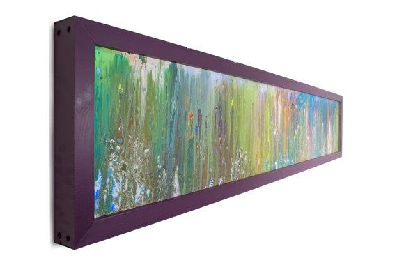 Art With Lights Horizontal Art Modern Lighting Abstract Art Throughout Glass Abstract Wall Art (Image 2 of 15)