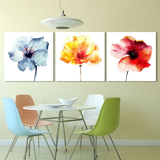 Artryst Modern Abstract Flower Art Prints Poster Colorful Wall With Regard To Abstract Flower Wall Art (Image 7 of 15)
